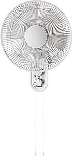 TEKNOS 壁掛け扇風機 フラットガード メカ式 30cm羽根 KI-W289