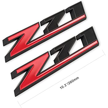 happy Matt Black Red Grille Z71 Emblem Badge for GMC Chevy Silverado 1500 2500HD Sierra Tahoe Suburban 3D