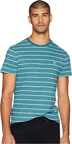 Short Sleeve Plaited Feeder Stripe T-Shirt