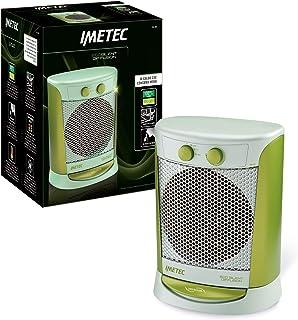 Imetec Eco Silent Diffusion FH4-300 - Calefactor con Cuerpo Oscilante, Silencioso, Tecnologia Eco para un Bajo Consumo, 3 Niveles de Temperatura, Función Antihielo Termostato Ambiente, 2000 W