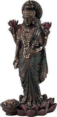 "SMALL LAKSHMI STATUE 3/"" Standing Hindu Indian Wealth Goddess NEW Resin Laxmi"