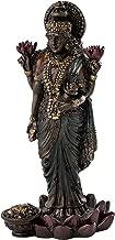 Top Collection Mini Standing Lakshmi Statue - Hindu Goddess of Good Fortune and Wealth Sculpture in Premium Cold Cast Bronze - 3.25-Inch Collectible Figurine (Sm. Lakshmi)