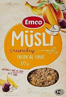 Emco Crunchy Muesli, Fruit Pieces, 375 gm