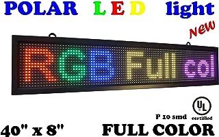 LED RGB Color Sign 40