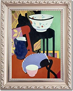 Ori Gallery Framed Canvas Print - The Blue Fan - by Francis Campbell Boileau Cadell