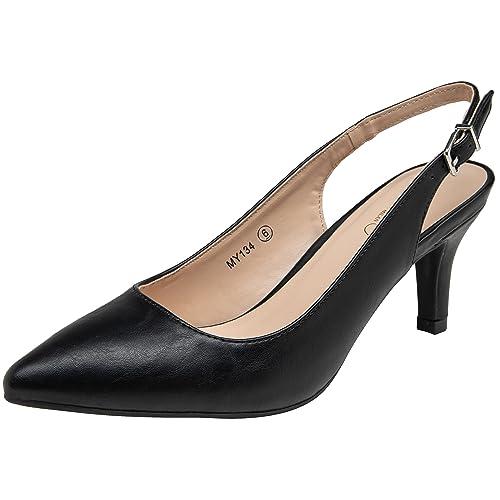 78586e565cc Size 11 Black Slingback Shoes: Amazon.com
