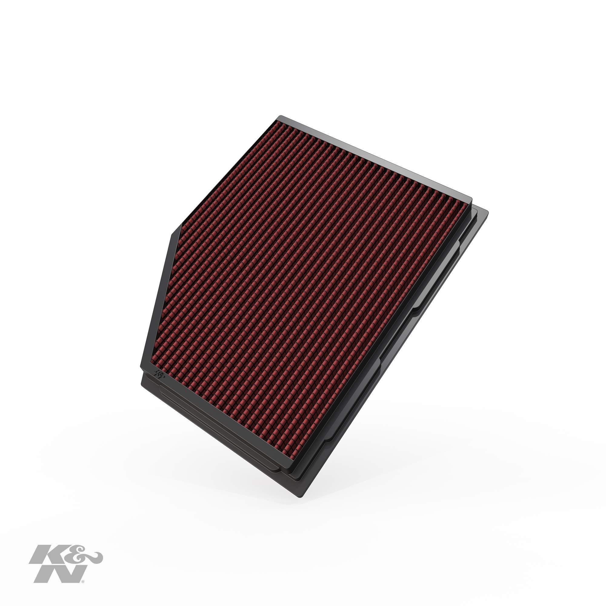 K&N 33-2292 Filtro de Aire Coche, Lavable y Reutilizable: Amazon ...