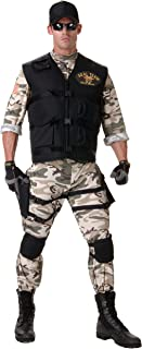 Men's Plus Size Adult Seal Team Costume-Standard