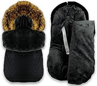 BlueKitty Fußsack 0 16 kg, Winterfußsack, Schlafsack, Schlitten, Footmuff, Kinderwagensack, Wasserdicht, Wasserabweisend, Winter 85 cm