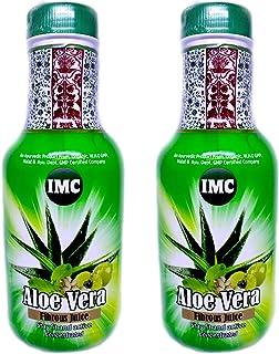 Imc Aloe Vera Fibrous Juice - 500 Ml, Pack Of 2