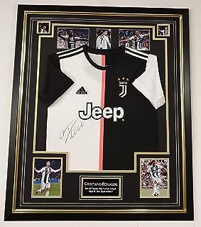 www.signedmemorabiliashop.co.uk Cristiano Ronaldo Signed Shirt Juventus Display