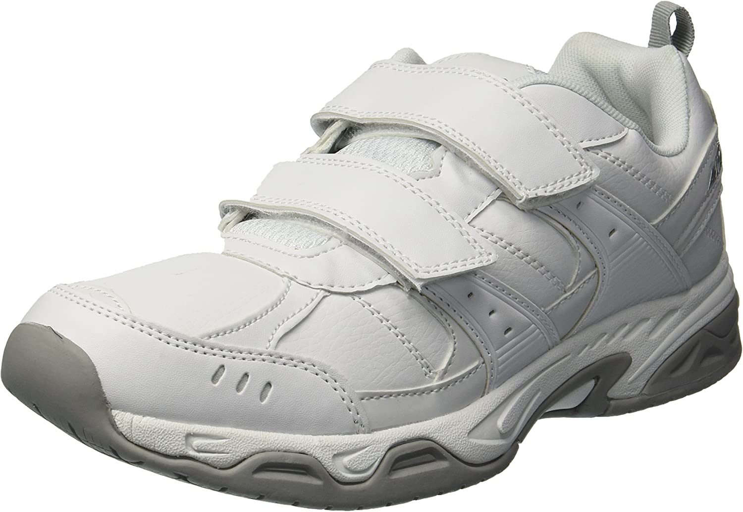 AVIA Men's Avi-Union II Strap Food Service shoes, White Chrome Silver, 11 Wide US