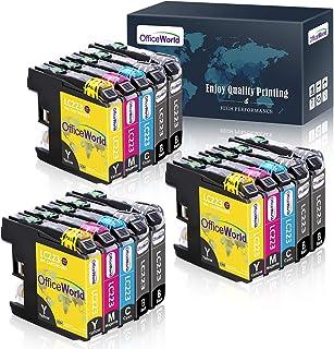 Multipack con 10 CARTUCCE C//M//Y//B per Brother lc1240c CIANO BLACK MAGENTA Yello
