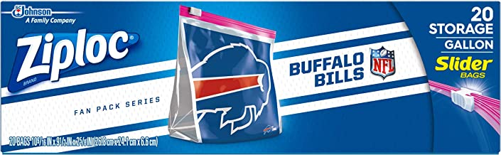 Ziploc Brand NFL Buffalo Bills Slider Gallon, 20 ct