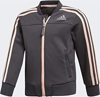 Adidas Lg Pes Cover Up Jacket For Kids DJ1465 Black & Pink - 9-10 Years