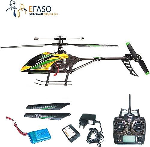 RC Helikopter efaso V912 - UpGröße Edition - 2,4 GHz, 4-Kanal Single Blade Gyro mit Kameravorbereitung