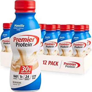 Premier Protein Shake, Vanilla, 30g Protein, 1g Sugar, 24 Vitamins & Minerals, Nutrients to Support Immune Health 11.5 fl oz, 12 Pack