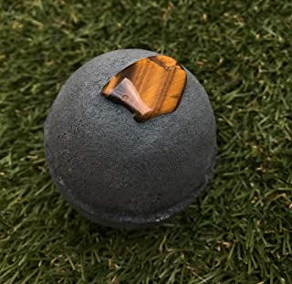 Natural Tigers Eye USA Made Large Lush Spa Fizzy Handmade Gift Idea for Her Him Wife Girlfriend