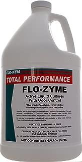 Flo-Kem 5195 Flo-Zyme Commercial Bio-Enzyme Drain Opener/Deoderizer with Pleasant Scent, 1 Gallon Bottle, Milky White