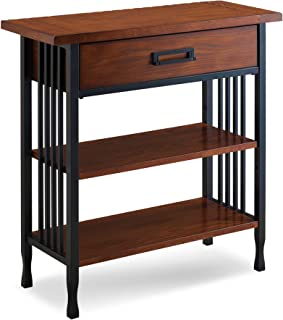 Leick Ironcraft Foyer Bookcase with Drawer Storage