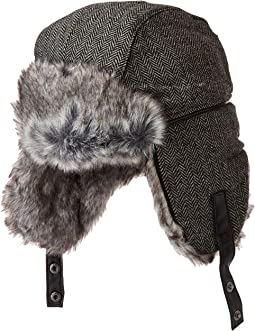 Trapper Knit Hat w/ Faux Fur