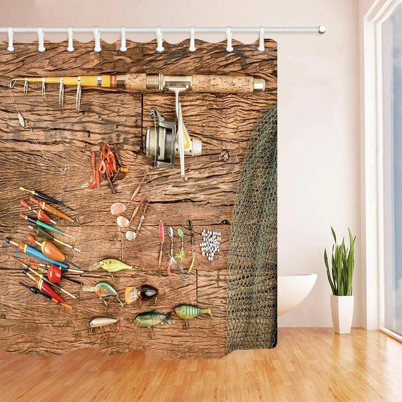 Fmiljiaty Shower Curtain Thick Colorado Springs Mall Bathroom Curtains quality assurance Fishing