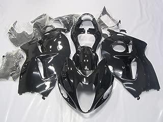 ZXMOTO Motorcycle ABS Bodywork Fairing Kit for HAYABUSA Suzuki GSXR 1300 HAYABUSA 1999 2000 2001 2002 2003 2004 2005 2006 2007 Gloss Black - (Pieces/kit: 19)