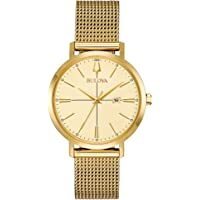 Bulova Women's Classic Aerojet Stainless Steel Mesh Watch (Gold)