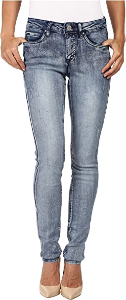 Olivia Slim with Crystals Jeans in Indigo