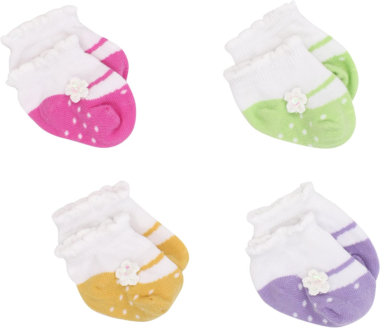 Country Kids Baby Girls' Crochet Flower Mary Jane Sock