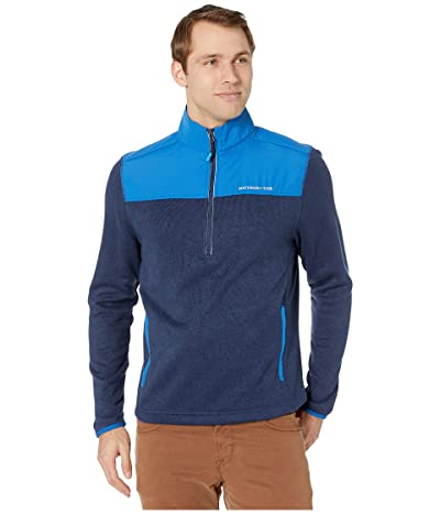 Southern Tide Cottage Sweater Fleece 1/4 Zip (True Navy) Men