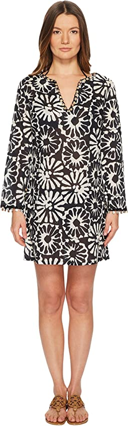Tory Burch Swimwear Pomelo Floral Beach Tunic Cover-Up