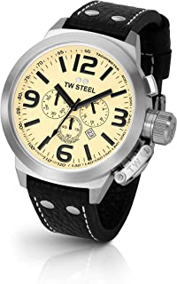 TW Steel Men's CEO Canteen Black Leather Chronograph Dial Watch