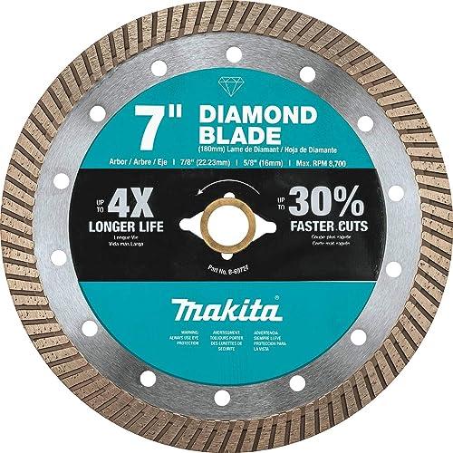 "discount Makita wholesale B-69727 7"" Diamond Blade, Turbo, General online sale Purpose sale"