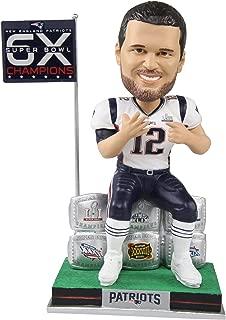 FOCO Tom Brady New England Patriots 6 Super Bowl Wins Bobblehead NFL