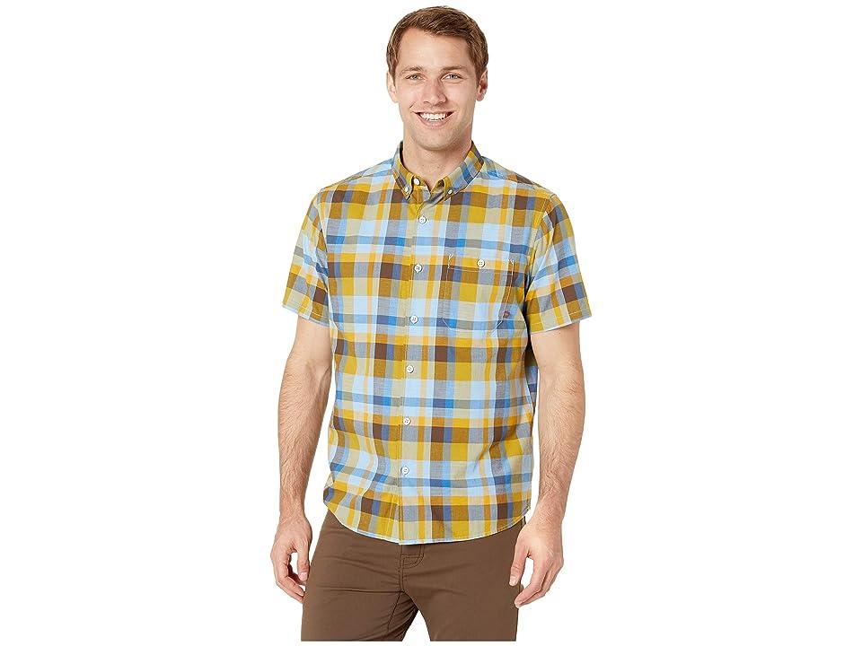 Mountain Hardwear Big Cottonwoodtm Short Sleeve Shirt (Dark Citron) Men