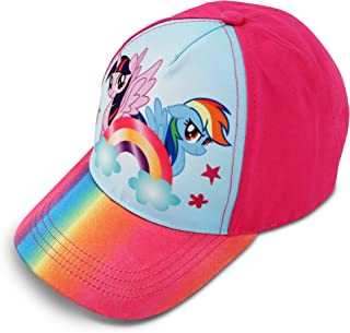 Hasbro Little Girls Pony Character Cotton Baseball Cap, Light Blue, Ages 4-7