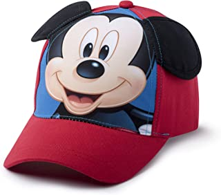 Disney Mickey Mouse Ears Baseball Cap Hat, Boys Ages 2-5, Red, Blue