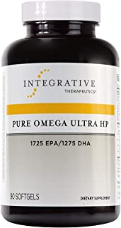 Integrative Therapeutics - Pure Omega Ultra HP Fish Oil Softgels - 1085 mg Omega 3 Fatty Acids with EPA and DHA - Wild Fish Oil - No Fishy Burp Back - Sustainably Sourced - 90 Count