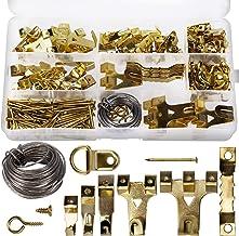 AIEX 220 stuks geassorteerde beeldhangers kit frame hangende haken hardware met haken, nagels, hangende draad, zaagtand, D...