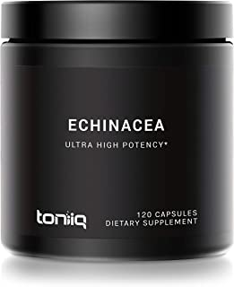 Ultra High Strength Echinacea Capsules (Non-GMO) - 1300mg - 4% Polyphenols - The Strongest Echinacea Supple...
