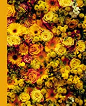 Composition Notebook: Yellow College Ruled Beautifully Designed Composition Notebook. Yellow Roses. Flowers.