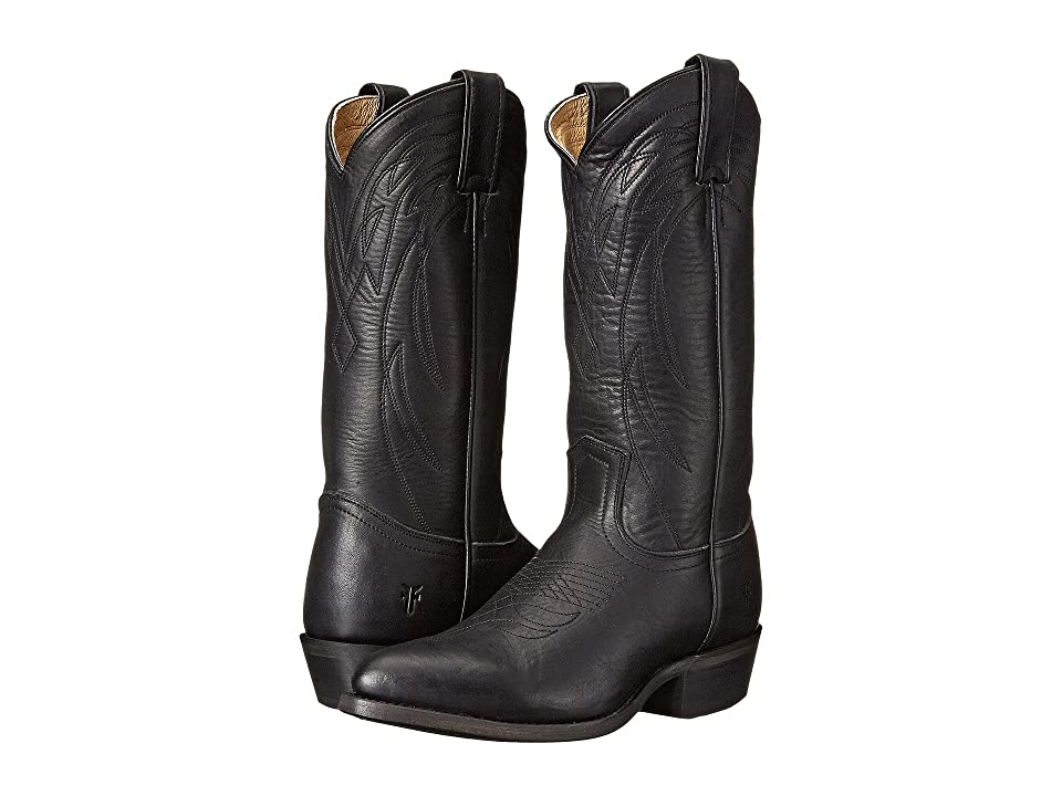 Frye Billy Pull On (Black Washed Oiled Vintage) Cowboy Boots