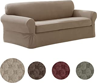 MAYTEX Pixel Slipcover Sofa Sand (Renewed)