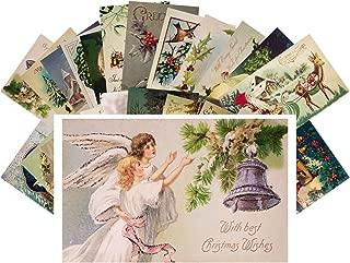 Vintage Christmas Greeting Cards 24pcs Antique Christmas Wishes Angels Santa REPRINT Postcard Set