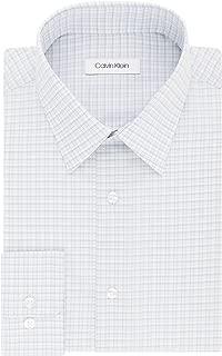 Men's Dress Shirt Regular Fit Non Iron Stretch Check