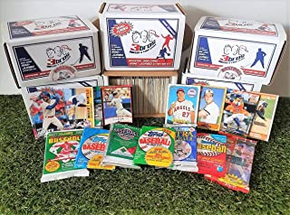 Limited Edition 300 card MINI-JUMBO lot of Baseball cards + 3 Vintage Unopened Wax Packs Starter Kit. Comes in Custom Souvenir Box- Great gift for the 1st time collectors! OVER 1,500 SOLD by 3bros