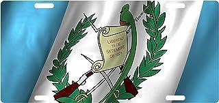 Fast Service Designs Guatemala Flag Custom License Plate Guatemalan Central American Emblem Version # 4