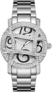 JBW Luxury Women's Olympia 20 Diamonds Cage Bezel Watch - JB-6214-B