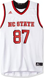 adidas NC State Wolfpack NCAA 87 White Replica Basketball Jersey